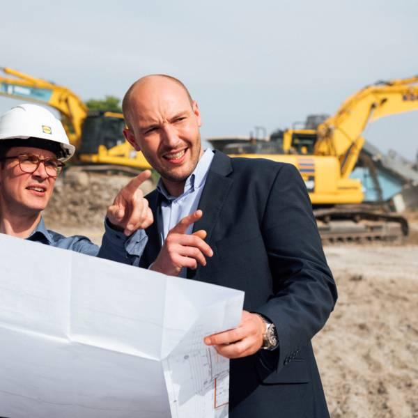 Bau Baustelle Portfoliomanger Besprechung Planung