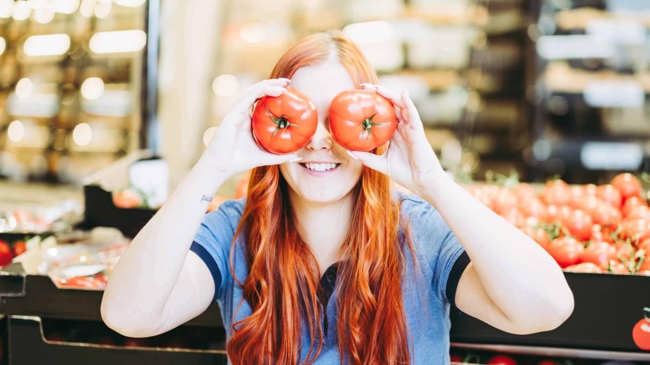 Tomaten auf den Augen