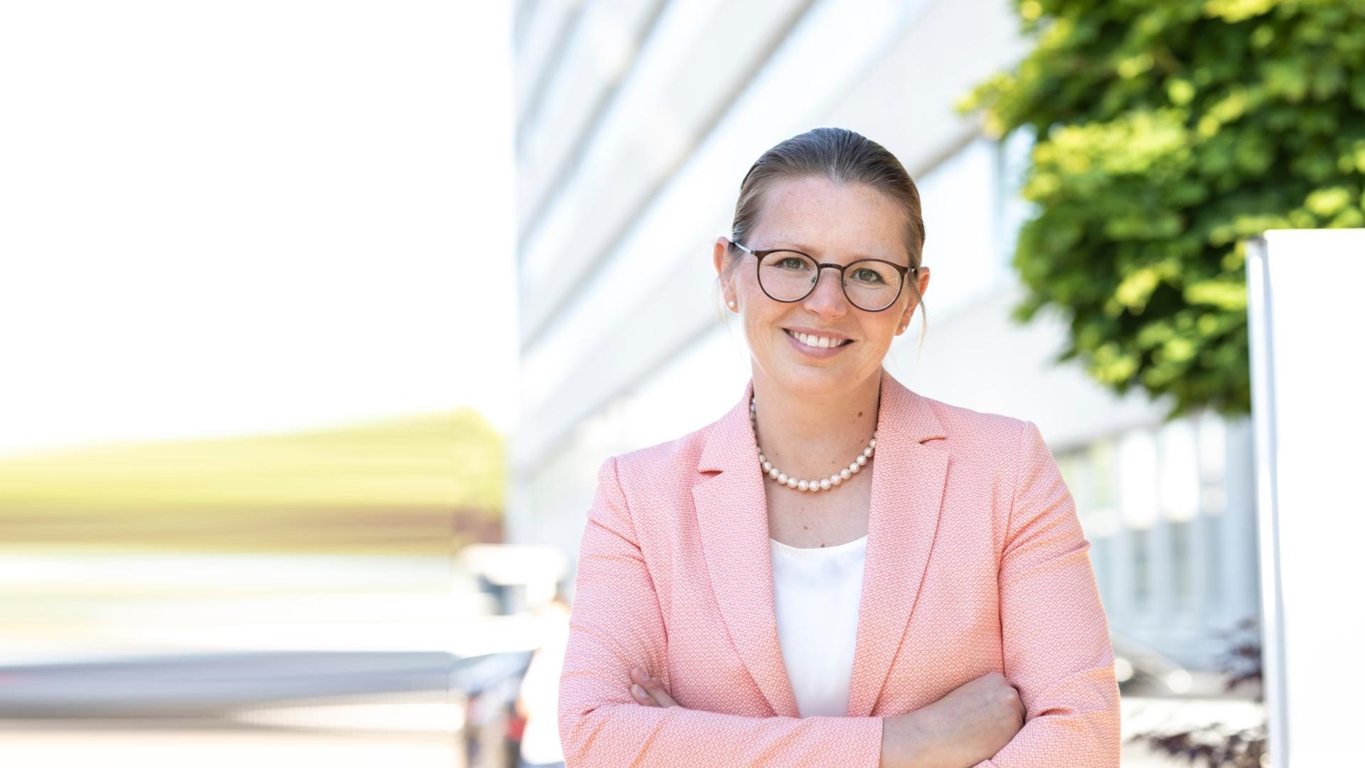 Janine, Mitglied der Geschäftsleitung bei Lidl